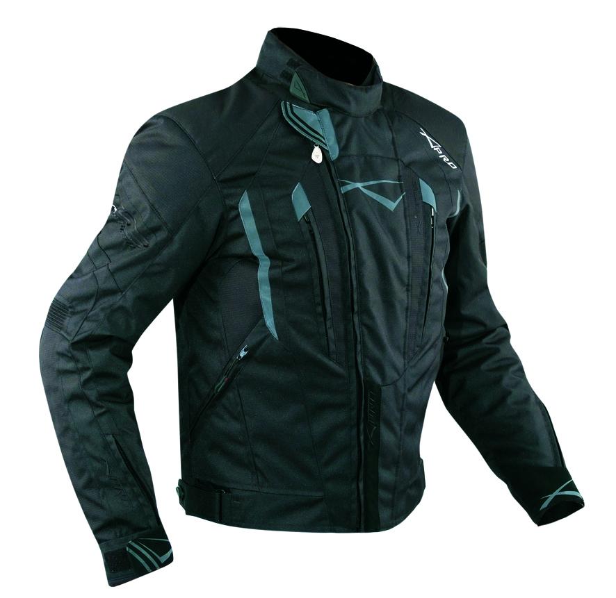 miniatuur 7 - Giacca-Cordura-Moto-Tessuto-Impermeabile-Sport-Termica-Sfoderabile-Nero