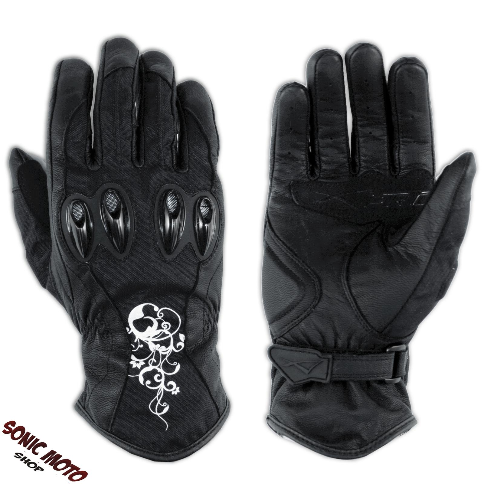 gants textile cuir protections coques renforts femme moto touring sport hivernal ebay. Black Bedroom Furniture Sets. Home Design Ideas