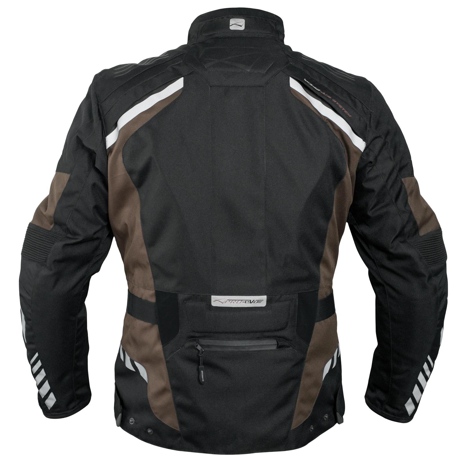 Blouson-Moto-Tissu-Veste-Impermeable-Doublure-Hivernale-Reflechissant-Respirant miniature 8