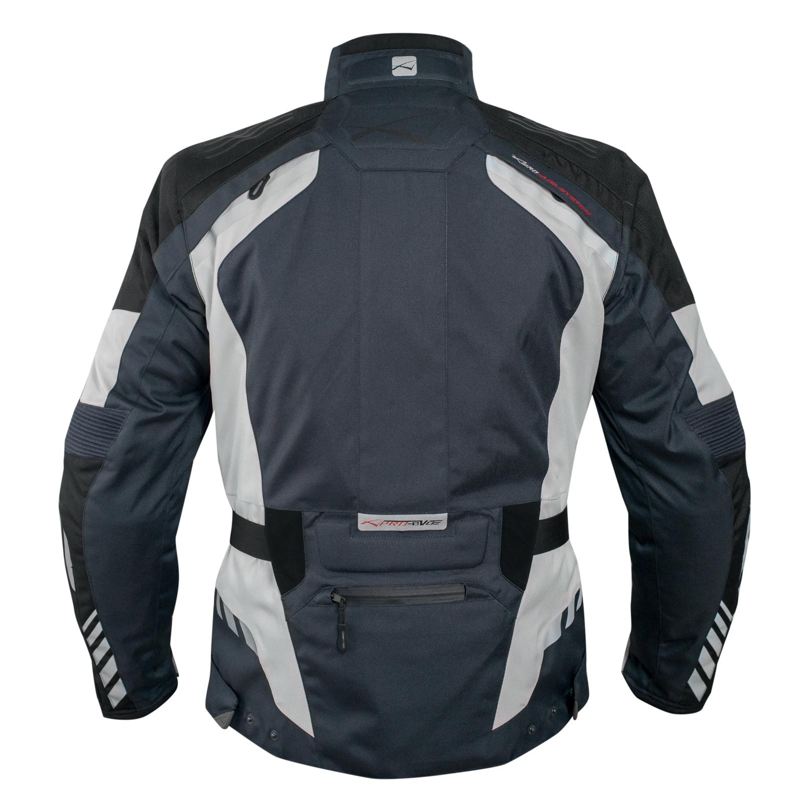 Blouson-Moto-Tissu-Veste-Impermeable-Doublure-Hivernale-Reflechissant-Respirant miniature 11