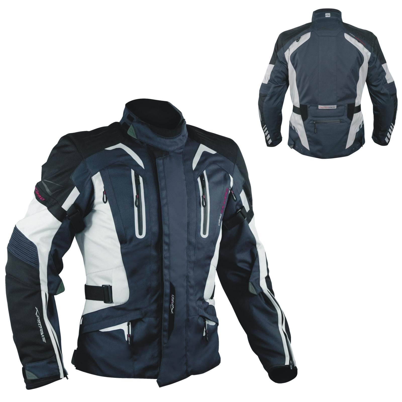 Blouson-Moto-Tissu-Veste-Impermeable-Doublure-Hivernale-Reflechissant-Respirant miniature 10
