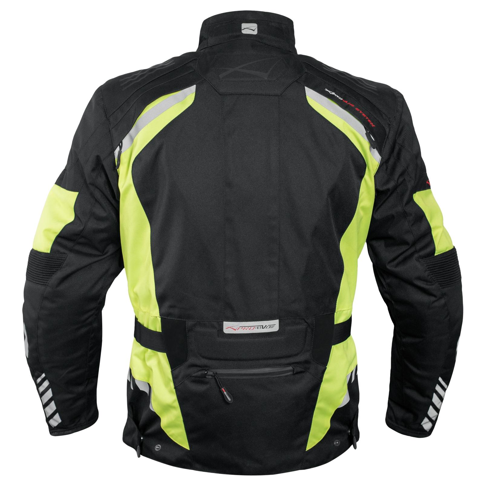 Blouson-Moto-Tissu-Veste-Impermeable-Doublure-Hivernale-Reflechissant-Respirant miniature 14