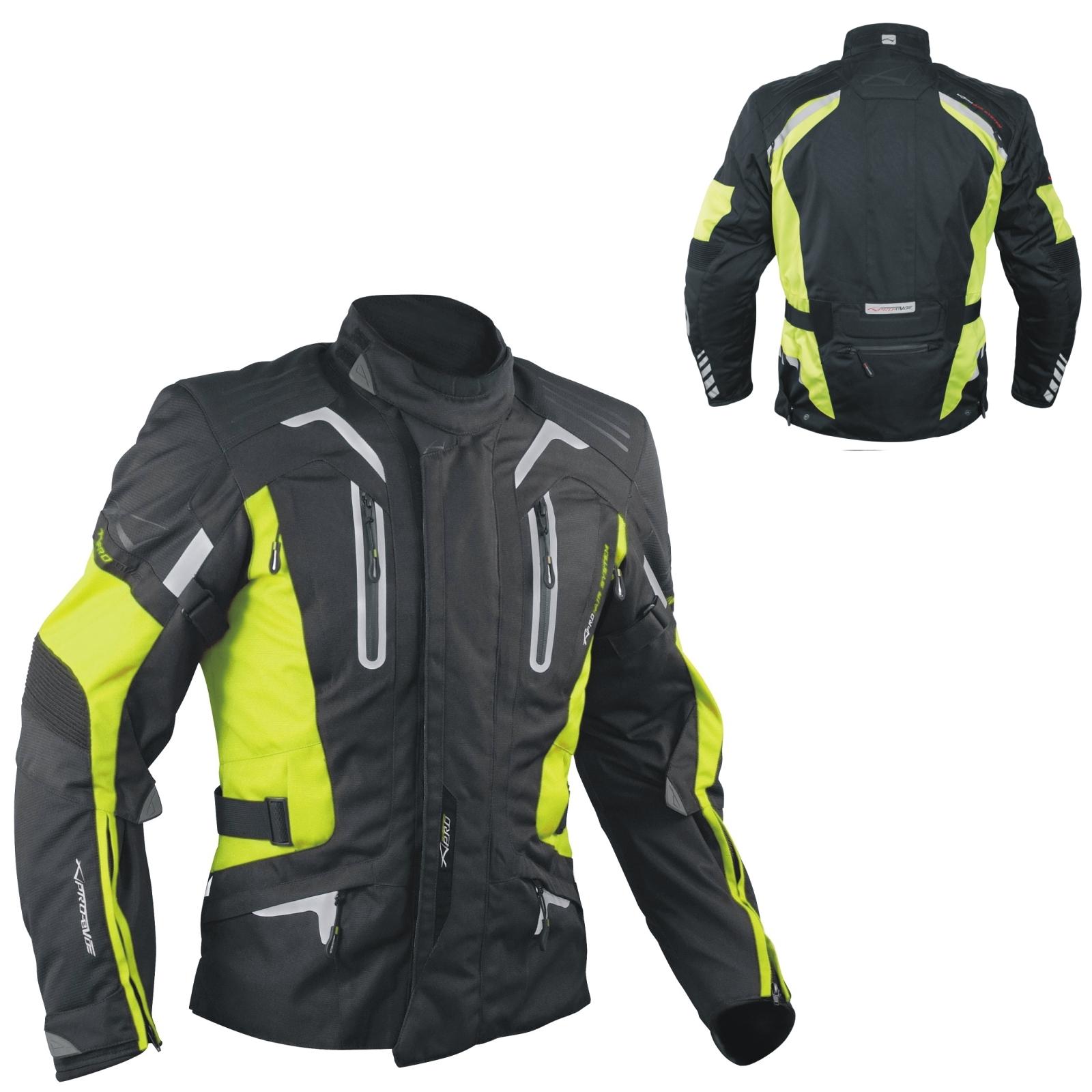 Blouson-Moto-Tissu-Veste-Impermeable-Doublure-Hivernale-Reflechissant-Respirant miniature 13