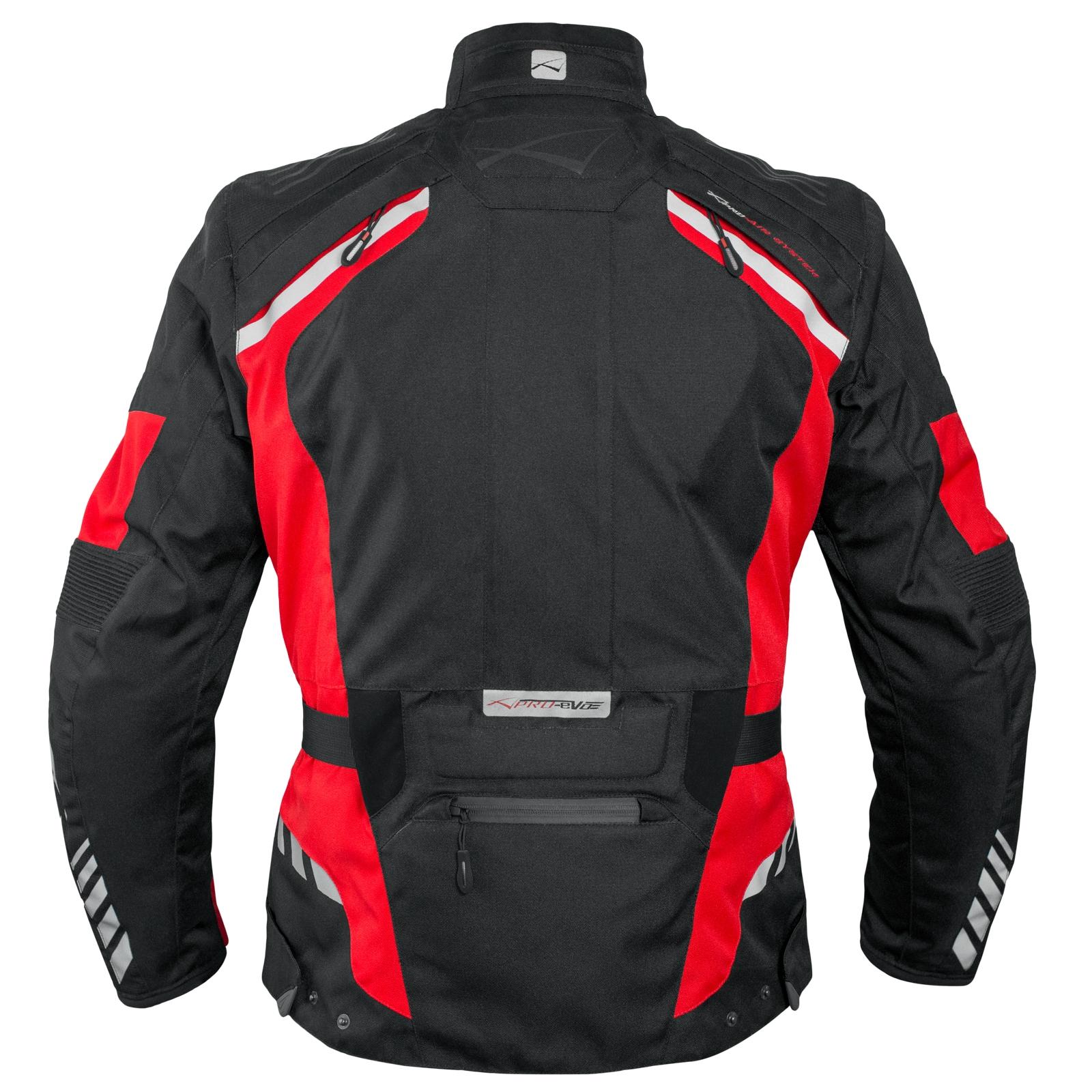 Blouson-Moto-Tissu-Veste-Impermeable-Doublure-Hivernale-Reflechissant-Respirant miniature 20