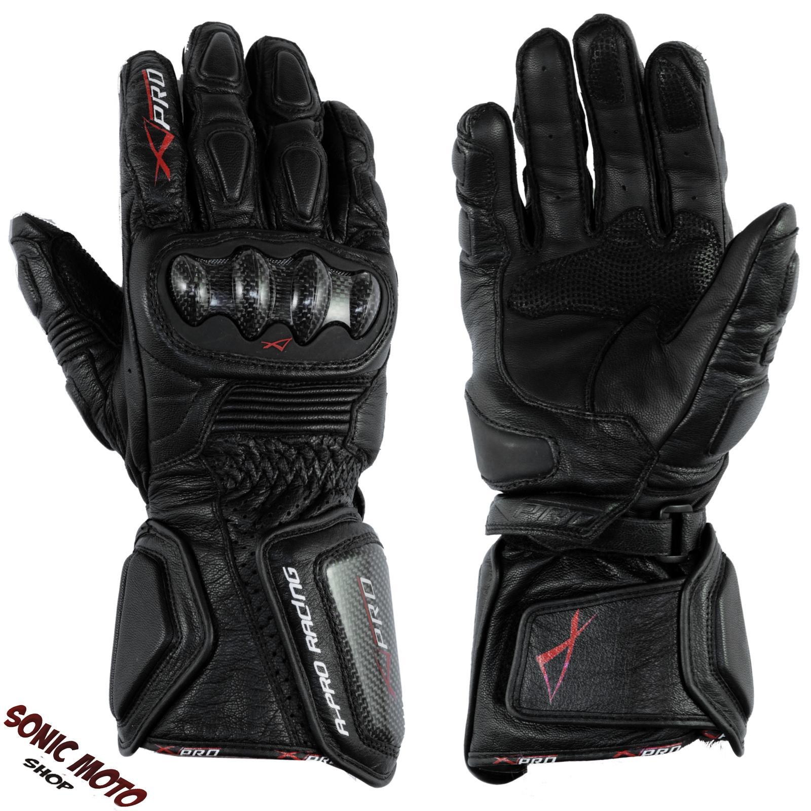 Motorcycle knuckle gloves - Motorcycle Biker Racing Sports Leather Riding Gloves Protection