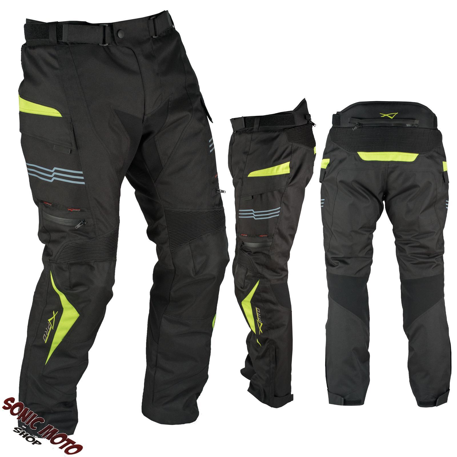 Pantaloni-Impermeabile-Moto-Termica-Estraibile-Strisce-Riflettenti