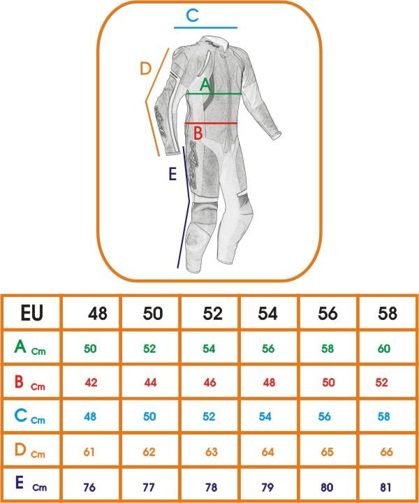 miniatura 4 - Tuta intera  moto  pelle Professionale Traforata Protezioni CE Estiva A-pro Nero