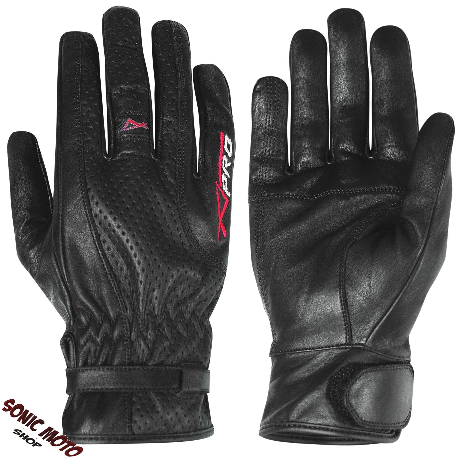 gants cuir vachette sonic moto taille unique femme homme moto motard scooter ebay. Black Bedroom Furniture Sets. Home Design Ideas