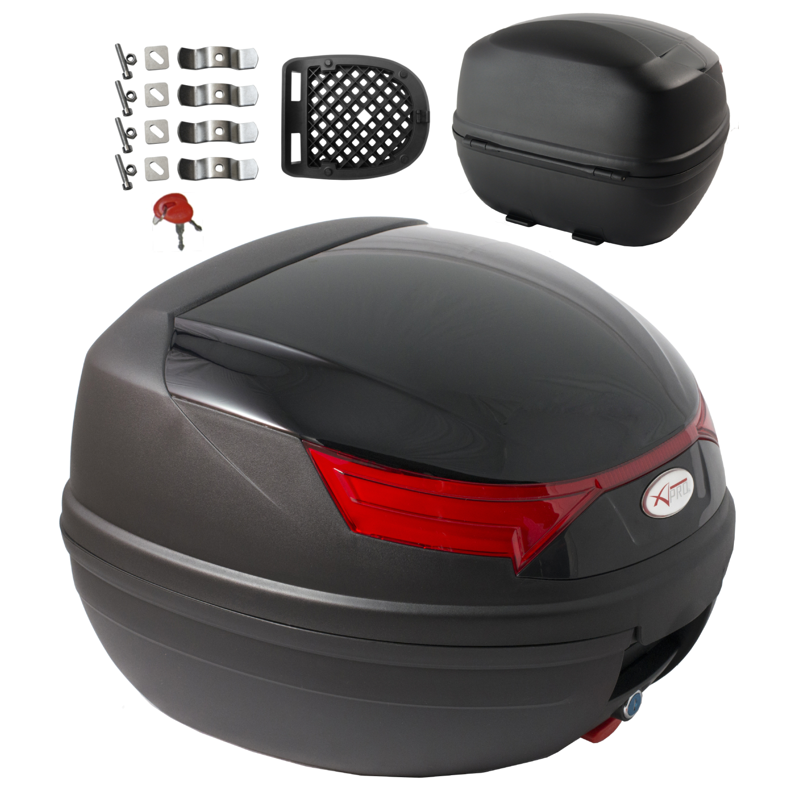 top case motorrad bremsleuchten top box koffer motorrad scooter quad 32 l ebay. Black Bedroom Furniture Sets. Home Design Ideas