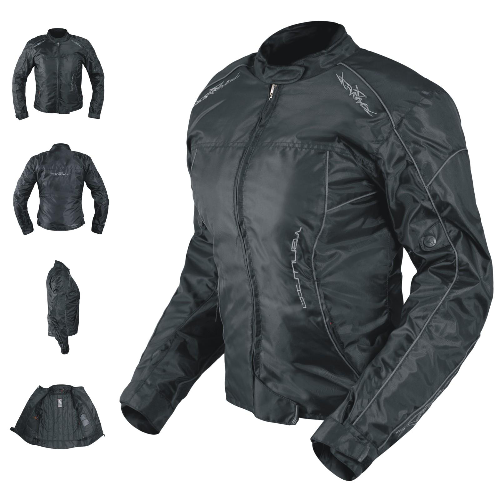 Veste-Blouson-Femme-Moto-Nylon-Oxford-Gilet-Thermique-Protections-Reflechissant