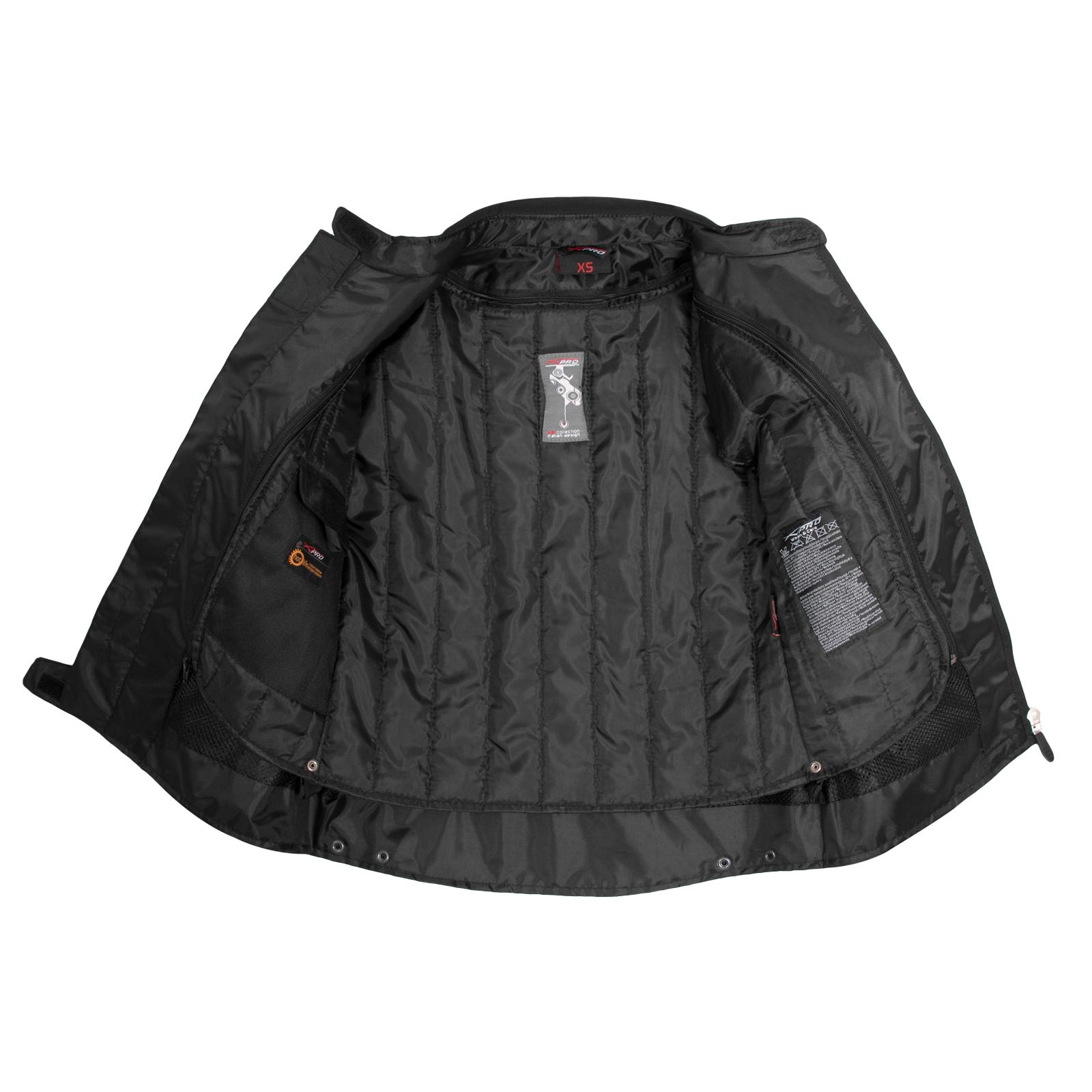miniatuur 17 - Giacca-Lady-Moto-Donna-Tessuto-Protezioni-CE-Termico-Sfoderabile-Scooter