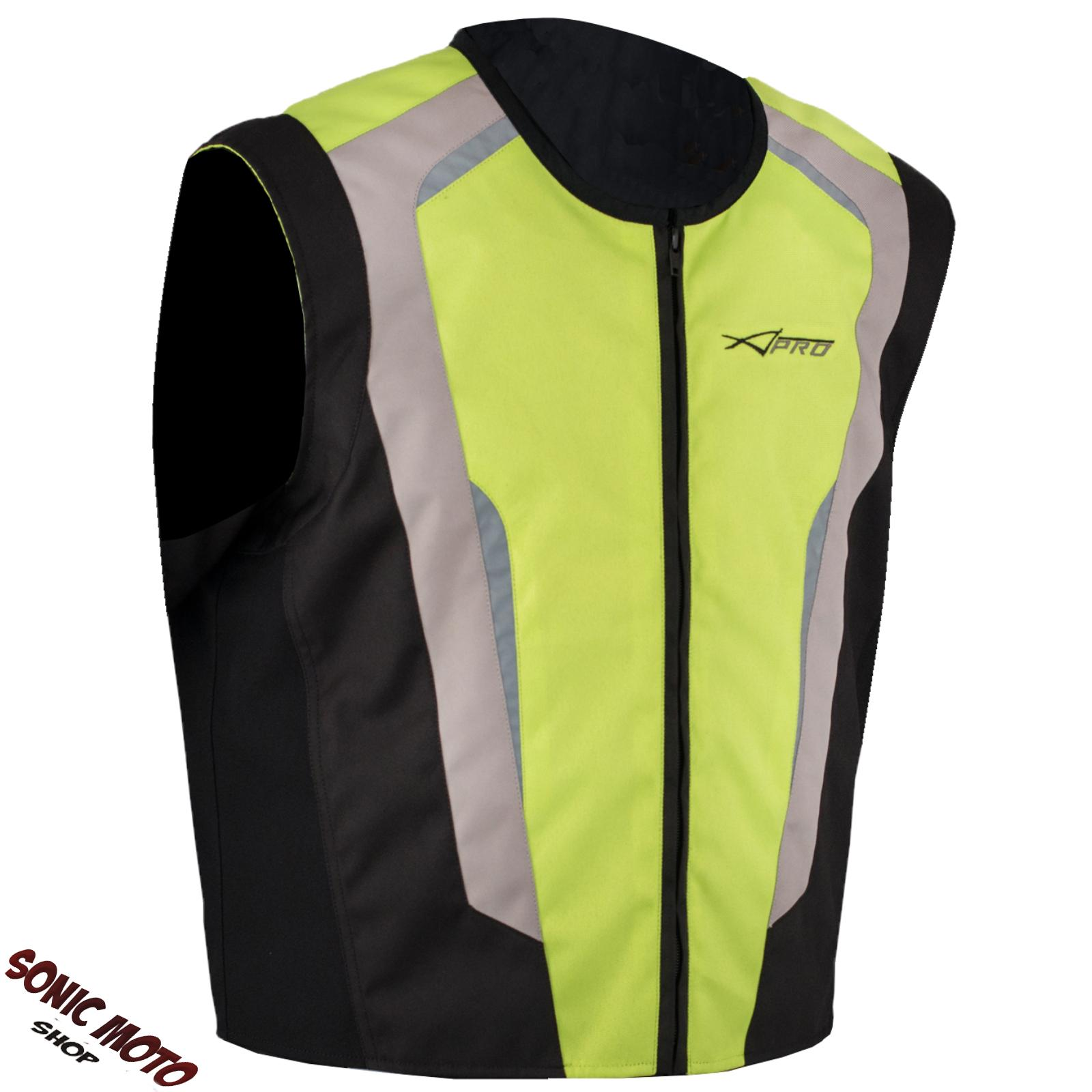 gilet alta visibilit cartarinfrangnete fluo sicurezza moto auto bici fluo ebay. Black Bedroom Furniture Sets. Home Design Ideas
