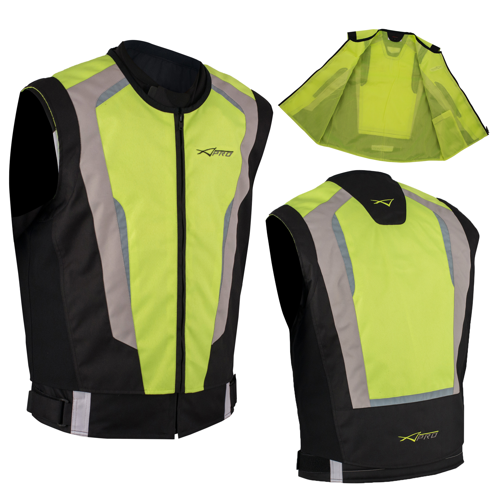 gilet securit moto v lo haute visibilit s curt vest auto fluo l ebay. Black Bedroom Furniture Sets. Home Design Ideas