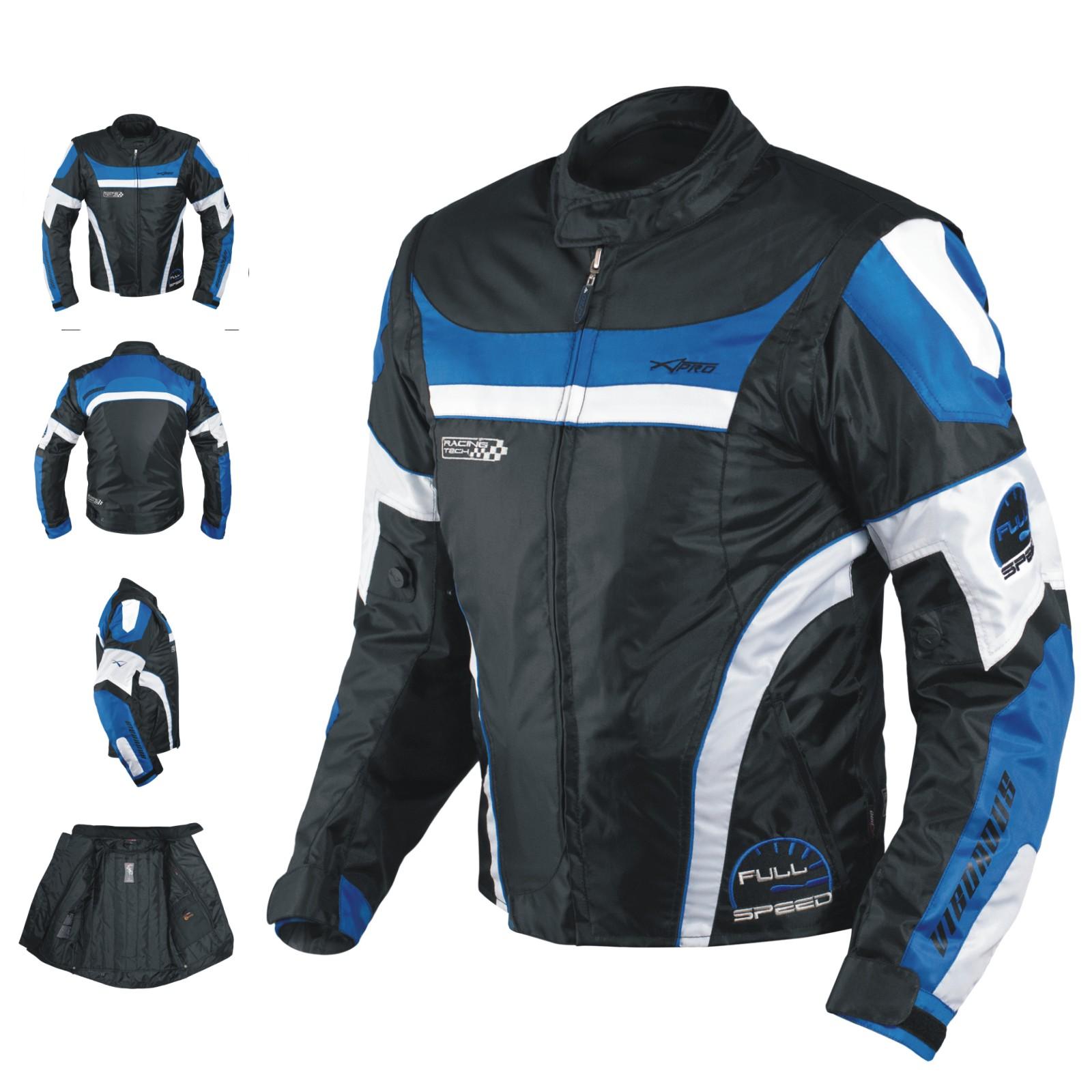 Blouson-Oxford-Nylon-Homme-Textile-CE-Protections-Thermique-Moto-Scooter