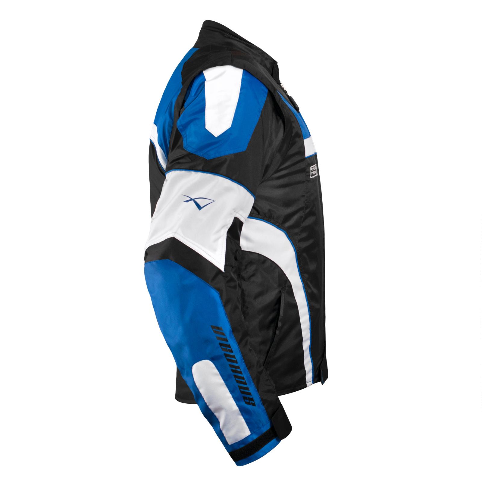 miniatuur 12 - Giacca Moto Manica Staccabile Tessuto Protezioni CE Sfoderabile Gilet Termico