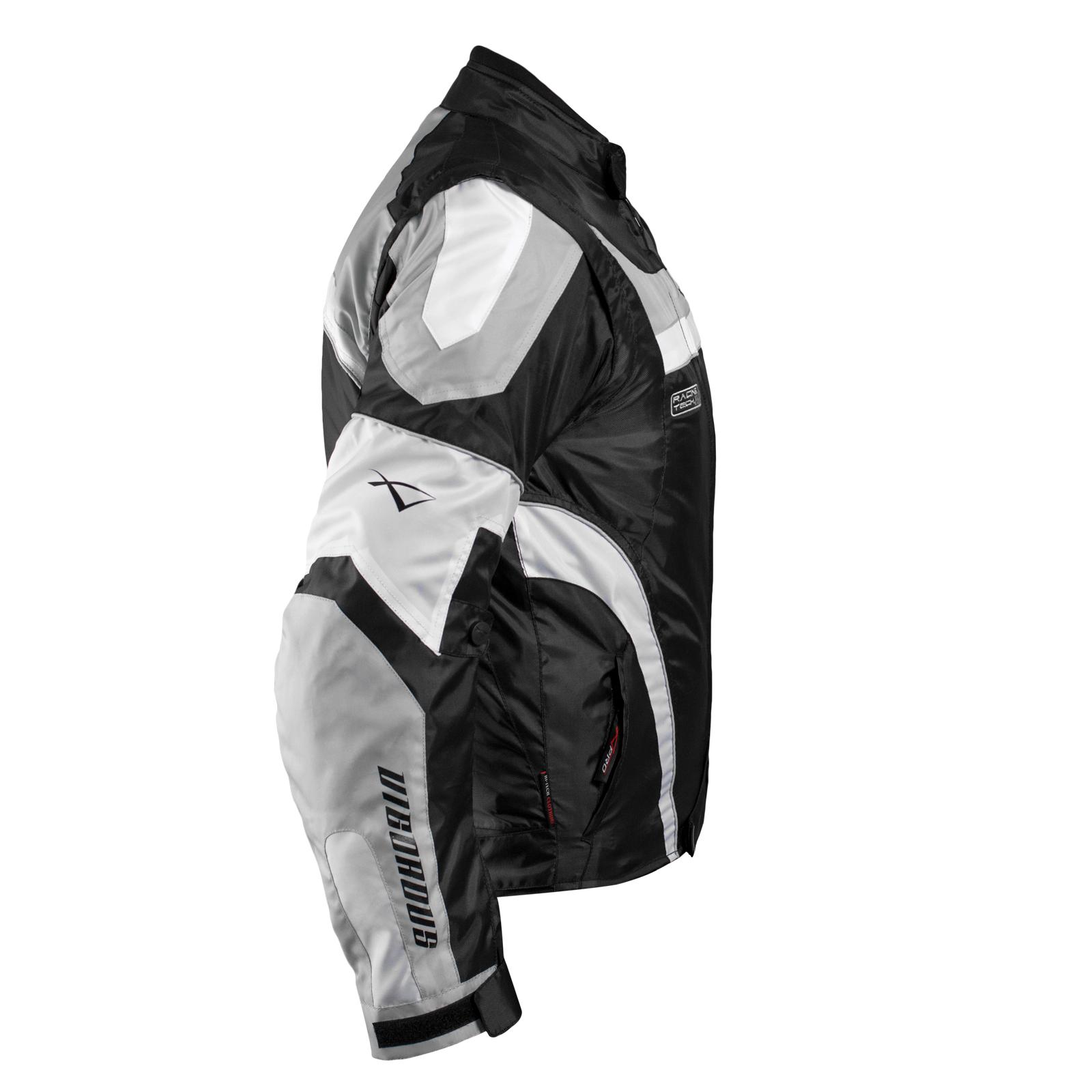 miniatuur 19 - Giacca Moto Manica Staccabile Tessuto Protezioni CE Sfoderabile Gilet Termico