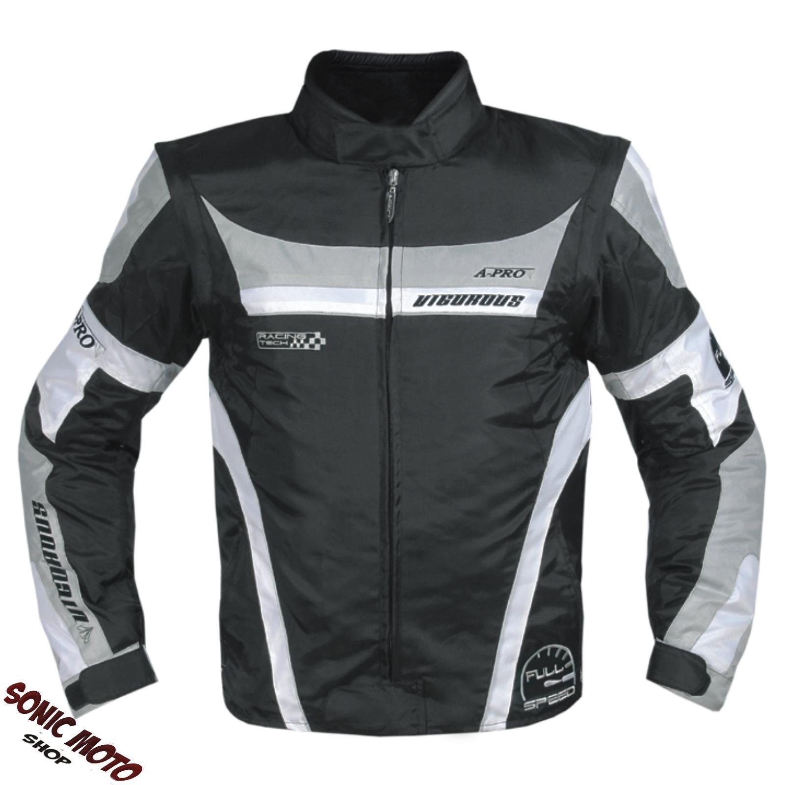 Blouson-Oxford-Nylon-Homme-Textile-CE-Protections-Thermique-Moto-Scooter-Gris
