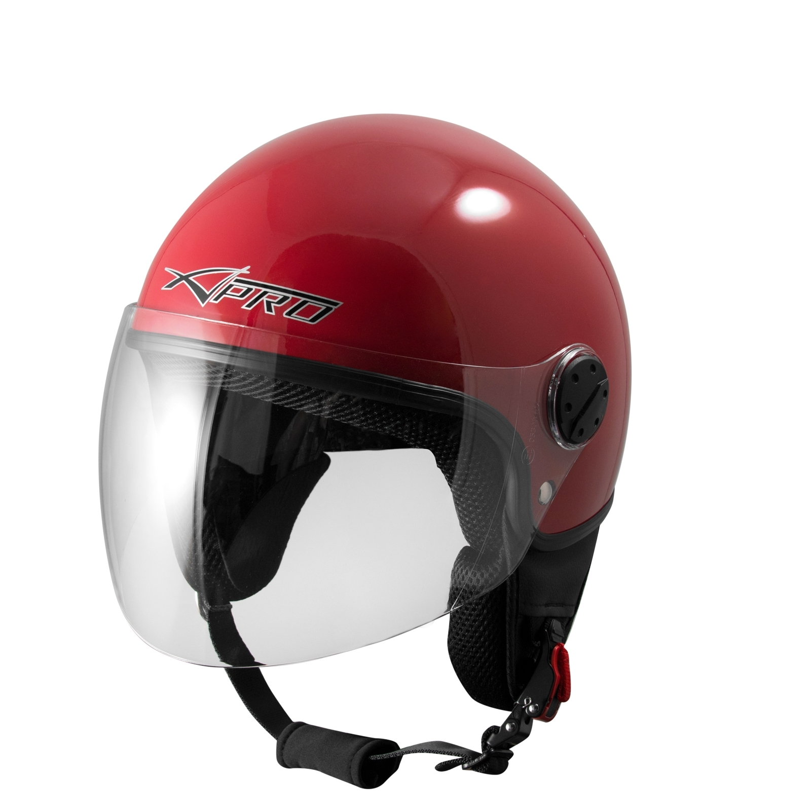 motorcycle open face classic jet helmet scooter clear