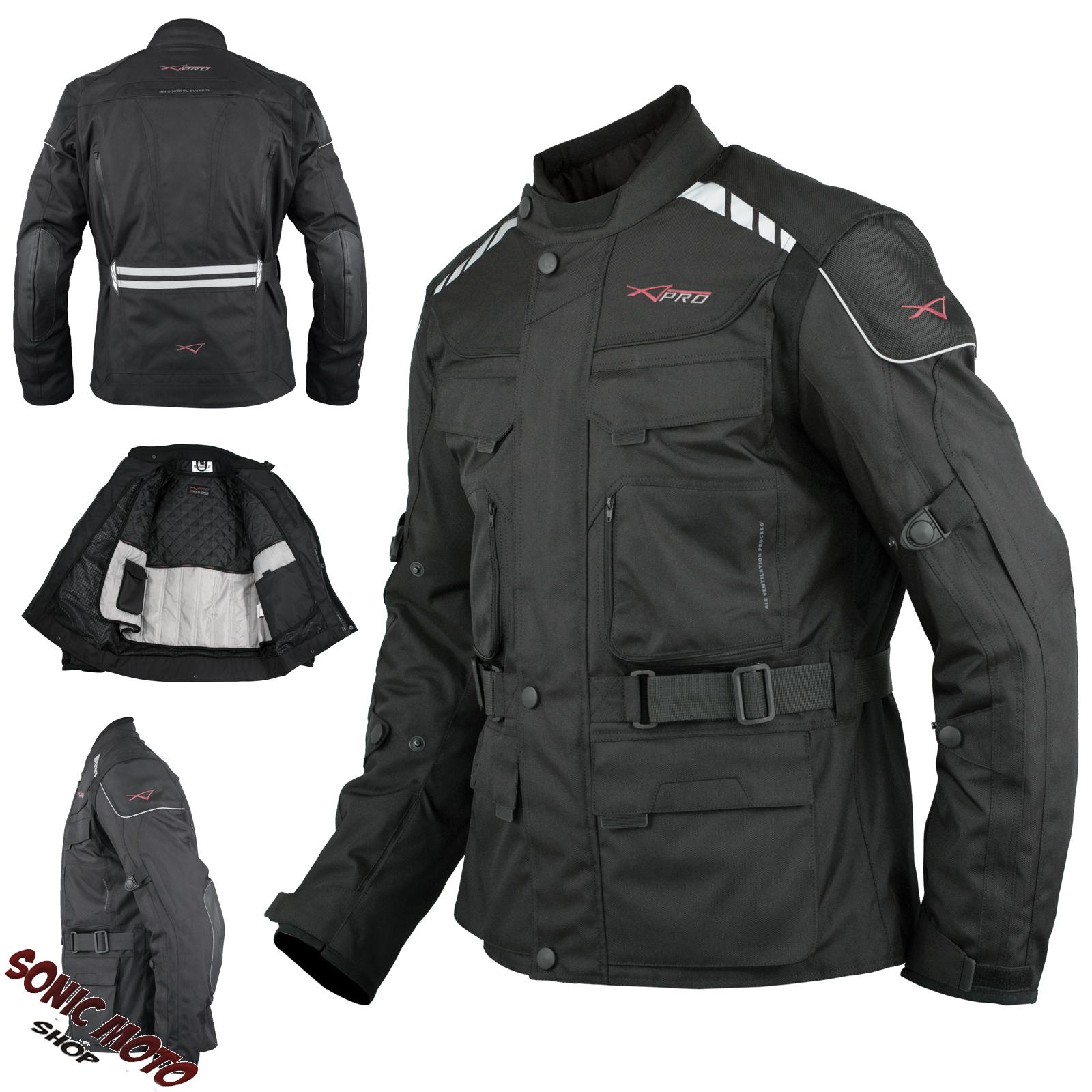 Giacca-Impermeabile-Moto-Tessuto-Protezioni-CE-Scooter-Viaggio