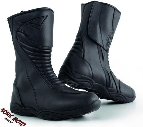 Motorcycle Biker Scooter Waterproof Leather Touring Boot Grip Reinforced A-Pro